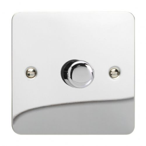 Varilight HFC3 Ultraflat Polished Chrome 1 Gang 2-Way Push-On/Off Dimmer 60-400W V-Dim